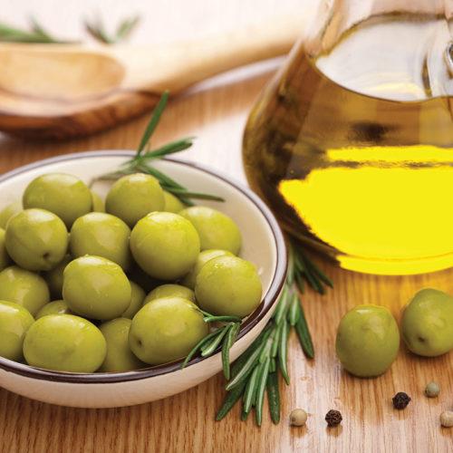 olives et huile d'olive bio