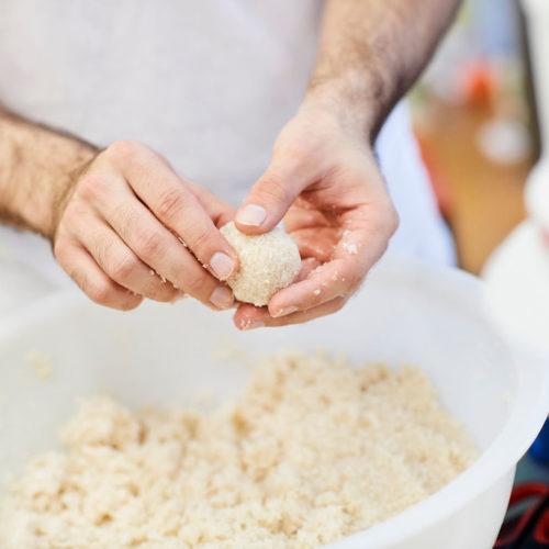 préparation de boulette bio