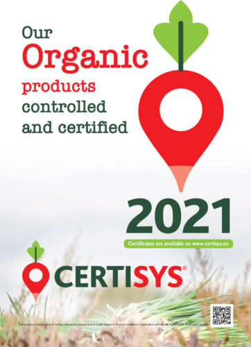 Our organic products controlled and certified